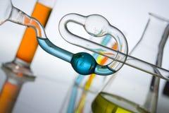 пробирки науки медицинского исследования Стоковые Фотографии RF