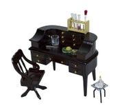 пробирки стола beakers деревянные Стоковые Фото