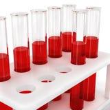 Пробирки с пробами крови, иллюстрация штока