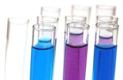 Пробирки с химикатами Стоковые Изображения