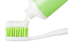 Пробка зубной пасты и зубной щетки Стоковое Изображение