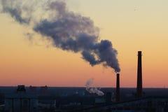 пробки восхода солнца неба polluting Стоковая Фотография