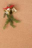 Пробковая доска с украшениями рождества для сообщения santa Стоковые Изображения RF