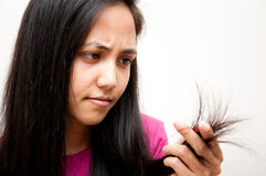 проблема волос Стоковое Изображение