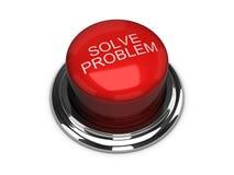 проблема изолированная кнопкой разрешает белизну бесплатная иллюстрация