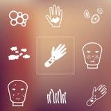 Проблемы кожи подпирают Стоковые Фото