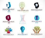 Проблемы психологии, человеческого мозга, психоанализа и психотерапии, отношения и рода, личность и индивидуальность, иллюстрация вектора