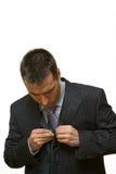 проблемы человека кнопки молодые Стоковые Фотографии RF