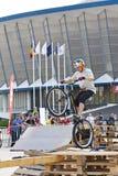 Пробный велосипедист Стоковые Фотографии RF
