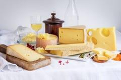Пробованные сыр и еда Стоковые Фотографии RF