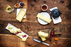 Пробованные сыр и еда Стоковые Изображения