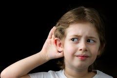 Пробовать услышать Стоковые Изображения