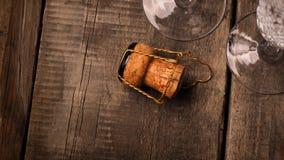 Пробочка бутылки Шампани Стоковое Изображение RF