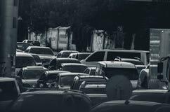 Пробочка в городе, черно-белом стоковое фото rf