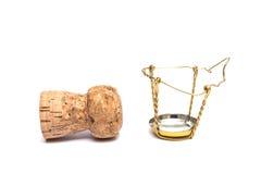 Пробочка игристого вина Стоковое Изображение
