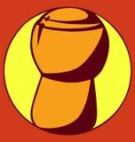 Пробочка Шампани на логотипе предпосылки белого круга красном Стоковые Изображения RF