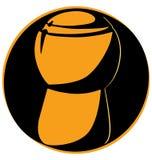 Пробочка Шампани чистосердечная на черной предпосылке белизны логотипа круга Стоковые Фото