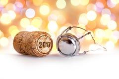 Пробочка 2017 Шампани Стоковые Фото