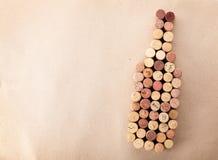 Пробочки бутылки вина форменные Стоковые Изображения