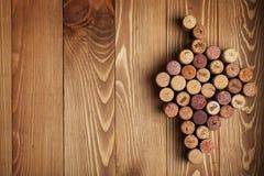 Пробочки вина виноградины форменные Стоковое фото RF
