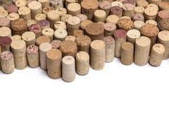 Пробочки вина на белизне Стоковые Фотографии RF