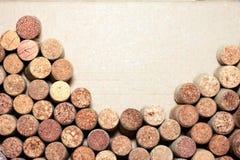 Пробочки вина на бумажной предпосылке для вашего текста Стоковая Фотография RF