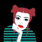 Пробуренная девушка redhead Стоковые Изображения