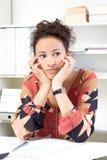 Пробуренная женщина офиса Стоковое Фото