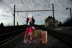 Пробуренная женщина поезд Стоковое Изображение RF