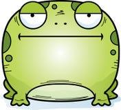 Пробуренная маленькая лягушка иллюстрация штока