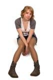 Пробуренная молодая белокурая девушка Стоковая Фотография