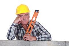 Пробуренный старший каменщик стоковая фотография