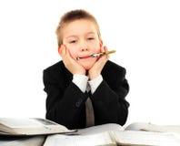 пробуренный школьник Стоковое Фото