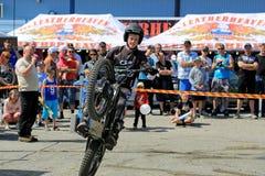 Пробы мотоцикла Timo Myohanen Стоковая Фотография