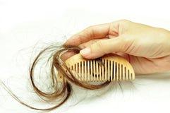 Проблема выпадения волос стоковое фото