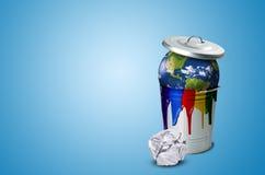 Проблема загрязнения почвы Стоковые Фото