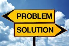 Проблема или soultion, напротив знаков Стоковая Фотография RF