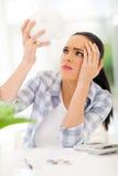 Проблемы женщины финансовые Стоковые Фотографии RF