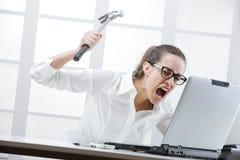 Проблемы компьютера Стоковое фото RF