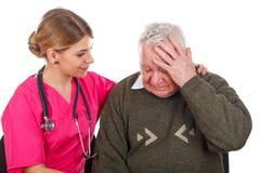 Проблемы мигрени Стоковые Фото