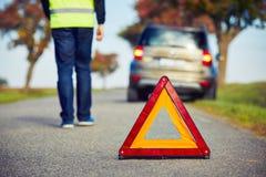 Проблемы на дороге Стоковое Изображение
