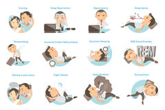 Проблемы сна Стоковое Изображение RF