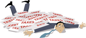 Проблемы с налогами Стоковая Фотография RF