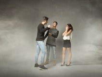 Проблемы Threesome стоковое изображение