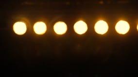 Проблескивать светов диско потока Defocusing сток-видео