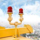 Проблескивая маяк на мосте Стоковые Фото