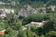 Провансальская деревня Les Baux de Провансаль стоковая фотография rf