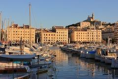 Провансаль Cote d'Azur, Франция - порт марселя старый стоковые фотографии rf
