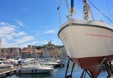 Провансаль Cote d'Azur, Франция - порт марселя старый стоковые изображения rf