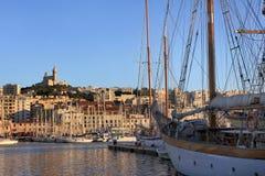 Провансаль Cote d'Azur, Франция - порт марселя старый стоковое фото